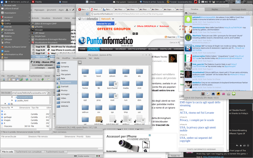 Linux desktop on Kubuntu distribution