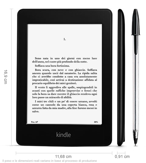 Nuovo Kindle Paperwhite. Il miglior ebook reader disponibile