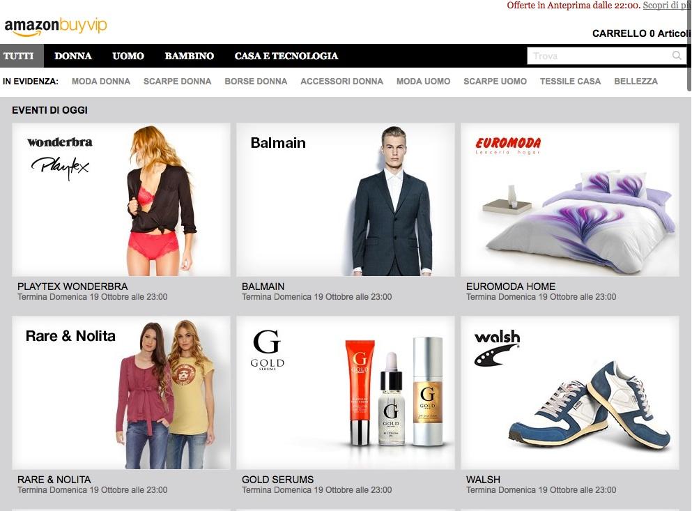 Amazon BuyVIP - La nuova frontiera dello shopping online
