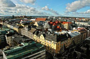 Una splendida veduta dall'alto del centro di Helsinki