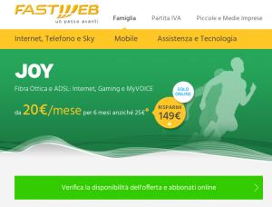 JOY di Fastweb. Ottima per il gaming e lo streaming online