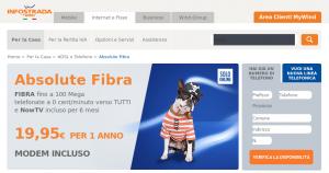 L'offerta di Wind-Infostrada è attualmente la più conveniente sul mercato italiano