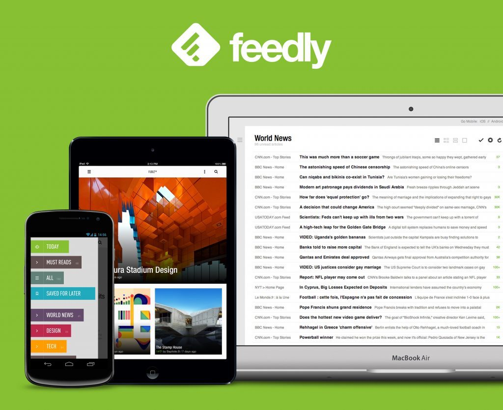 Feedly. Un piattaforma di aggregazione feed RSS personalizzabile e gratuita