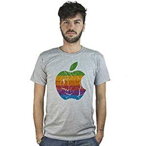 La famosa mela morsicata simbolo dell'azienda creata da Steve Jobs e Steve Wozniak