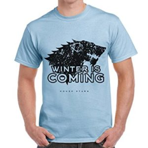 T-Shirt Game Of Thrones House Stark Winter Is Coming Trono Di Spade