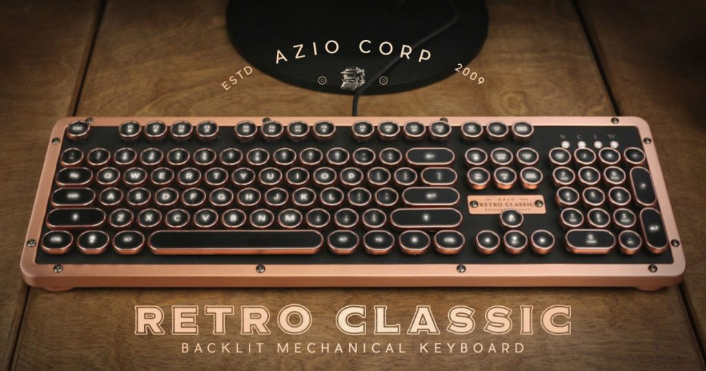 Azio Industry First Luxury Vintage Keyboard
