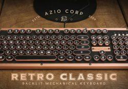Azio Industry First Luxury Vintage Keyboard