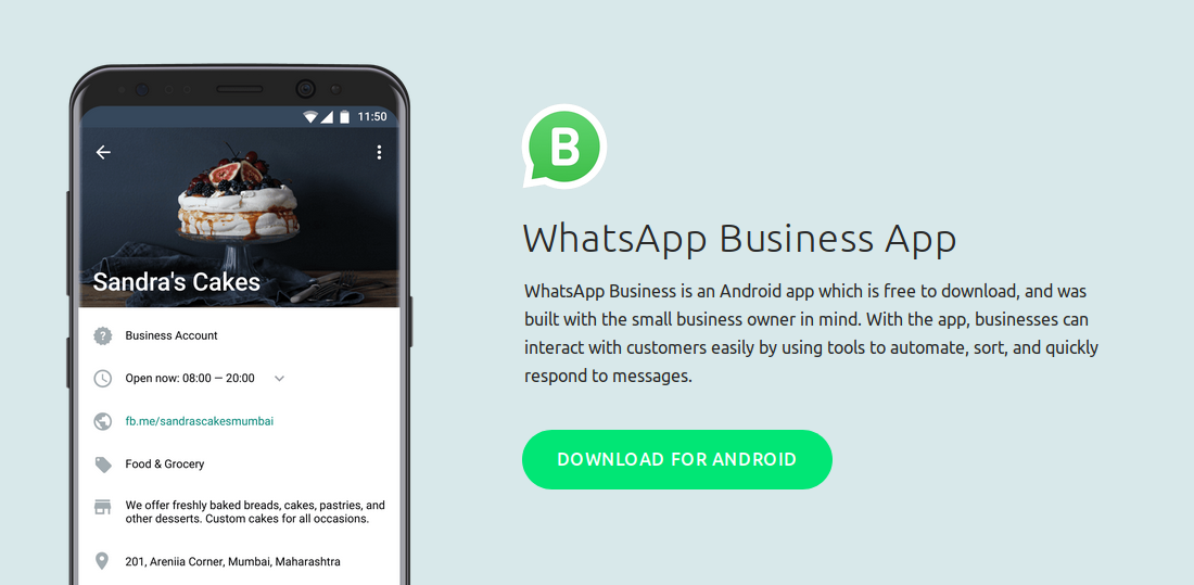 WhatsApp Business is an Android app which is free to download