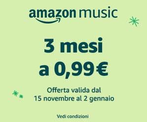 Amazon Music Unlimited al costo promozionale di 0.99 € per 3 mesi