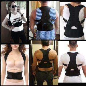 Dekool Correttore di postura schiena regolabile e con fascia sostegno lombare
