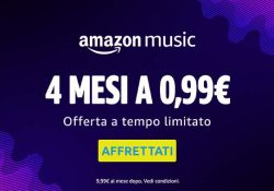Amazon Music Unlimited è disponibile in offerta speciale: 4 mesi di Amazon Music Unlimited a 0,99 €